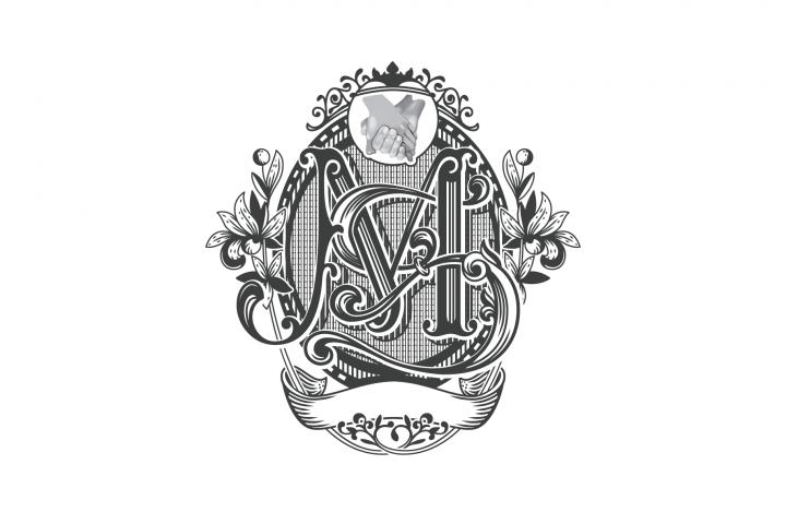 Victorian MS Monogram Frame