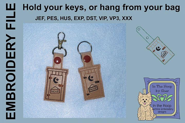 ITH Outhouse Key Fob - Embroidery Design