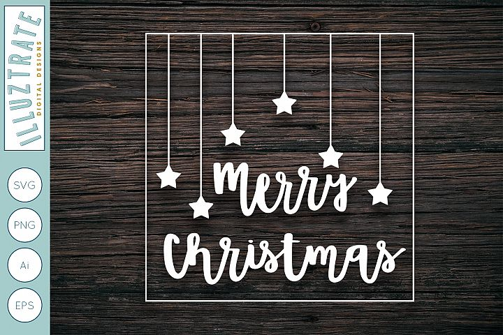Merry Christmas SVG Cut File | Holiday Cut File for Crafters