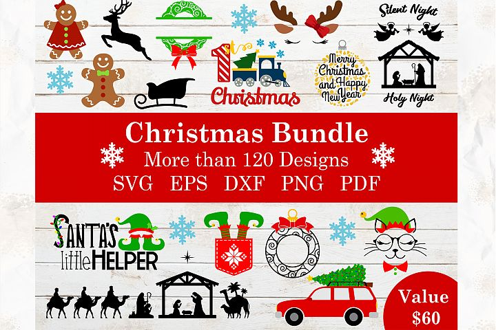 Huge Christmas bundle in SVG,DXF,PNG,EPS,PDF formats