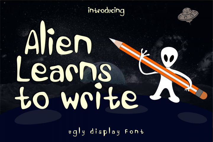 Alien Learns To Write