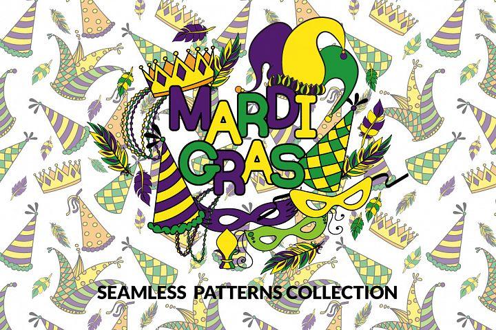 Mardi Gras - Seamless Patterns Joyful Collection