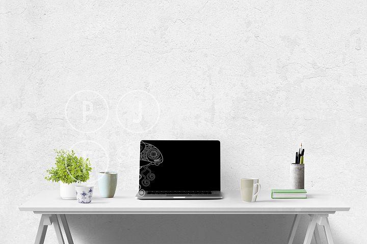Computer mockup & desk mockup bundle - Free Design of The Week Design0