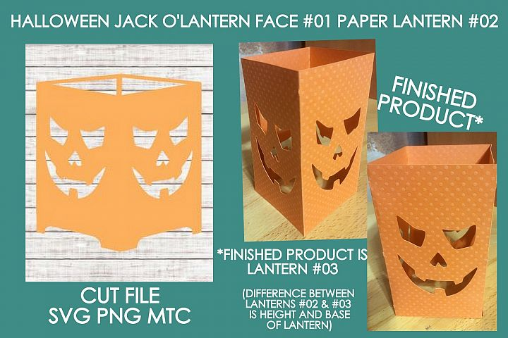 Halloween Jack OLantern Face 01 Paper Lantern #02 SVG File