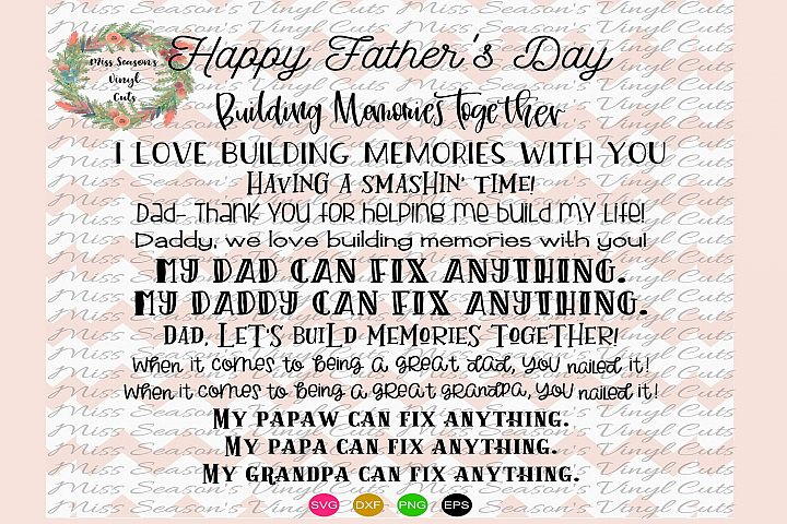 Fathers Day Hammer Bundle SVG Png Dxf EPS