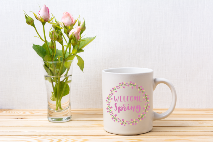 Welcome Spring Floral Wreath - A Spring SVG example 1