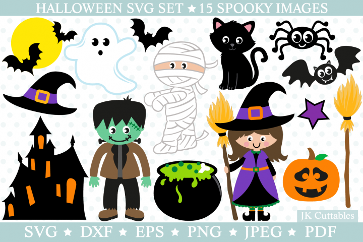 Halloween svg files, witch svg, cat svg, pumpkin svg,bat svg