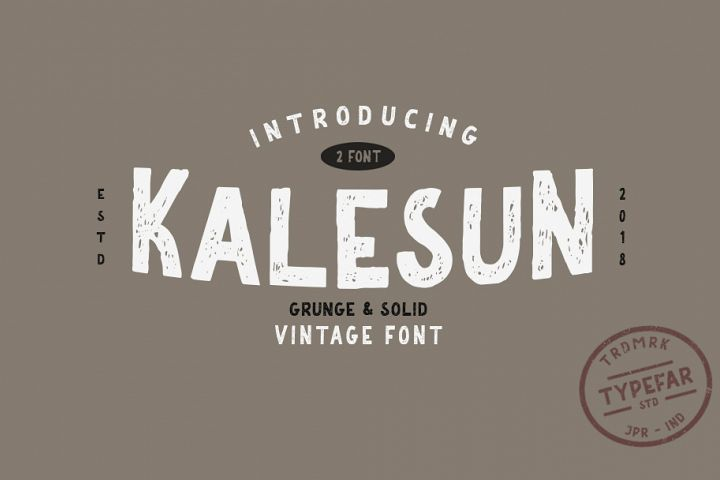 Kalesun Vintage Font