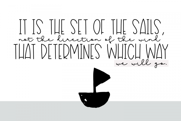 Sailboat - A Fun Handwritten Font - Free Font of The Week Design1