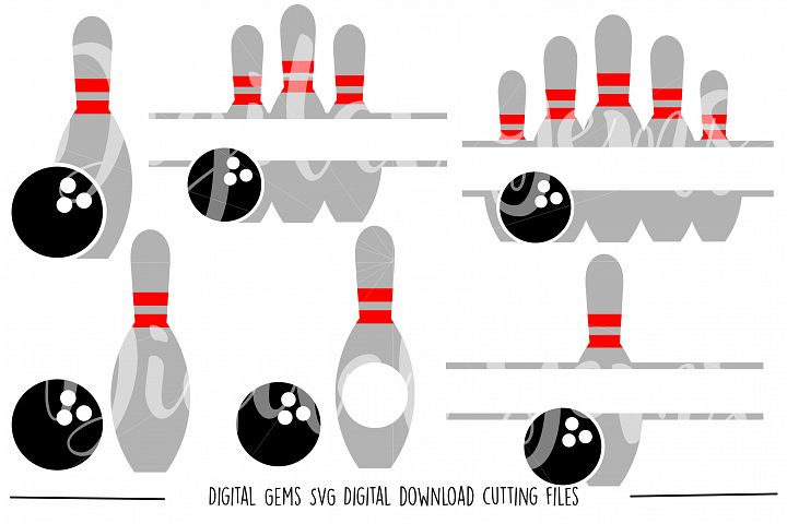 Bowling SVG / DXF / EPS / PNG files