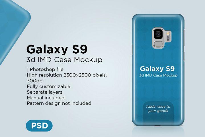 Samsung Galaxy S9 3d Phone Case Mockup