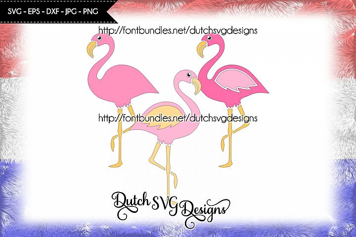 3 Flamingo cutting files, in Jpg Png SVG EPS DXF, for Cricut & Silhouette, flamingo svg, flamingo cut file, flamenco svg, cricut svg, diy