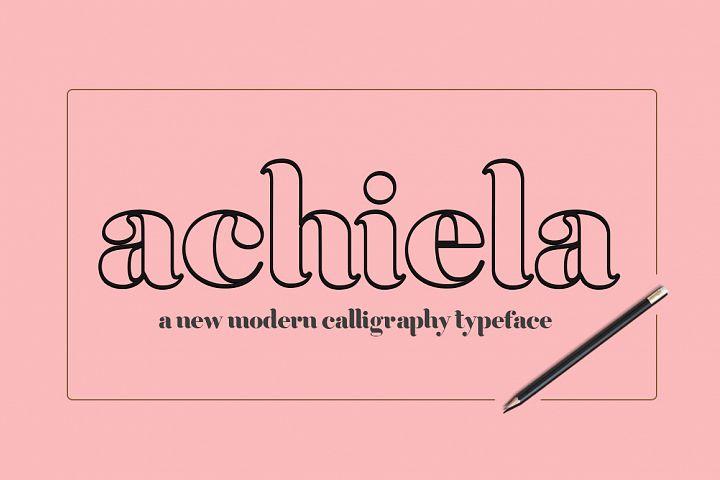 Achiela font family