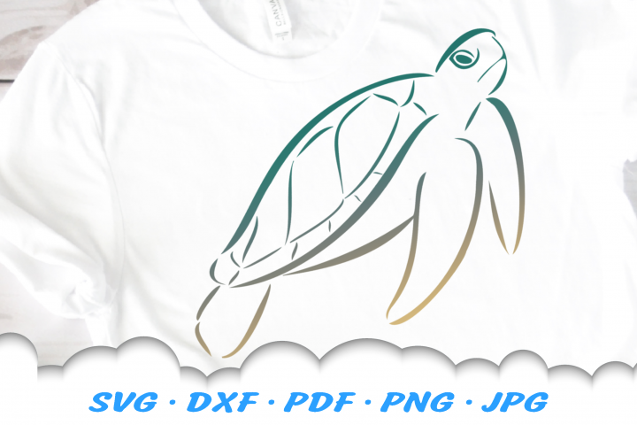 Tribal Sea Turtle SVG DXF Cut Files