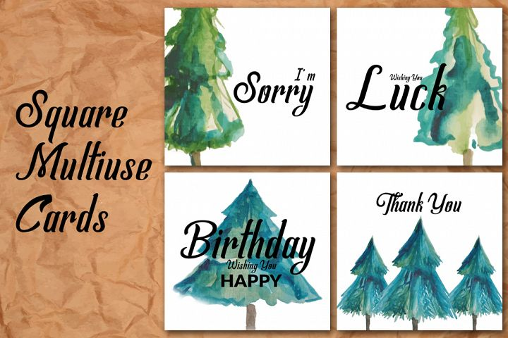Square Birth Day Wishing Cards