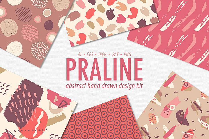 Abstract Hand Drawn Brushstroke Patterns Bundle