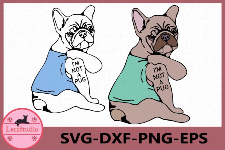 Im not a pug, Pug svg, Pug shirt, Dog svg, Pug Power