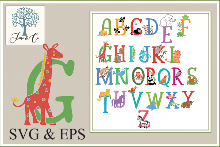 Childrens Illustrated Animal Alphabet