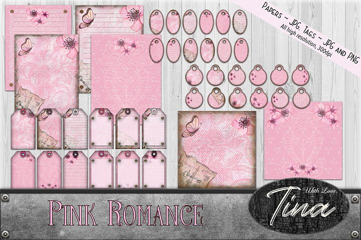 Pink Romance Paper And Tag Variety