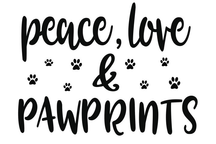 Peace Love Pawprints