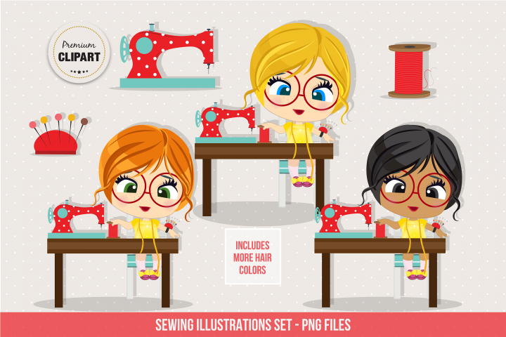 Sewing graphics, Sewing clipart