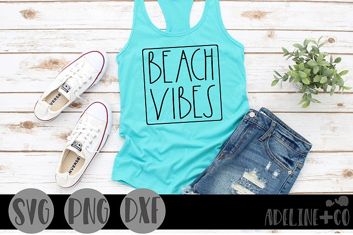 Beach vibes, SVG, PNG, DXF