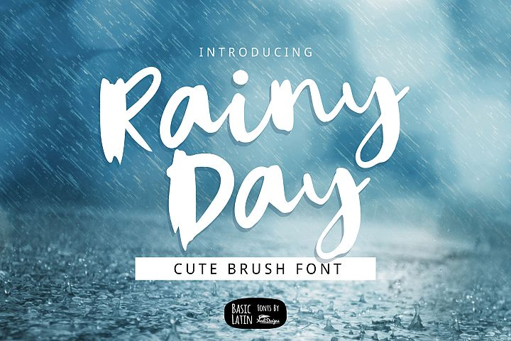 Rainy Day Brush Font
