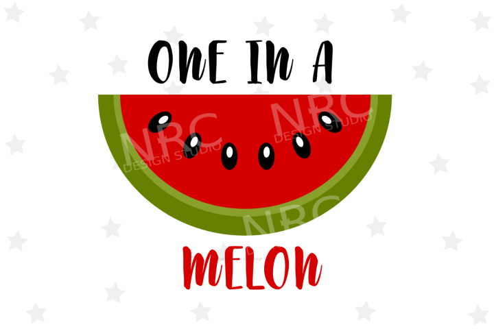One In A Melon SVG File - Food Pun