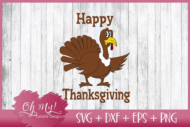 Happy Thanksgiving - SVG DXF EPS PNG