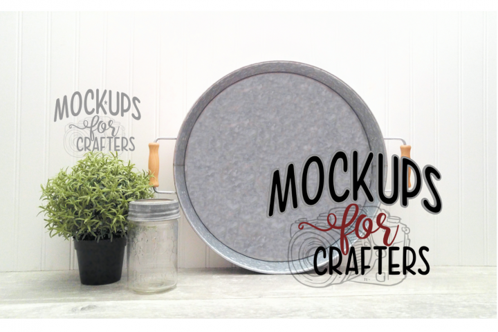 Round Metal Tray Mock-Up