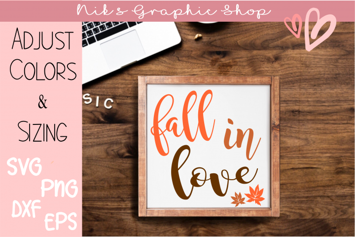 Fall Svg, Fall in Love Svg, Love Svg, Fall Sign Svg