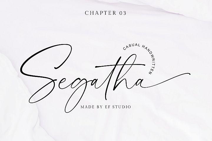 Segatha | Casual Handwritten Font