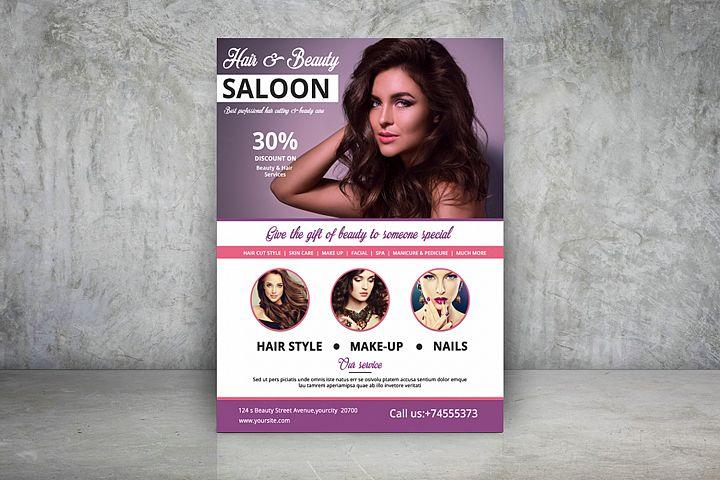 Hair & Beauty Care Salon Flyer | Spa Flyer