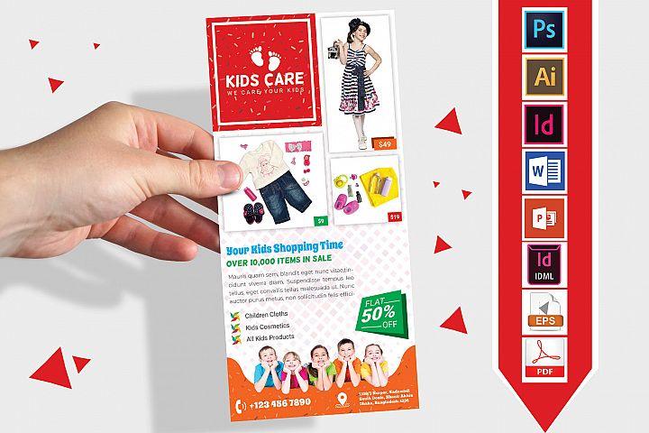 Rack Card | Kids Fashion DL Flyer Vol-03