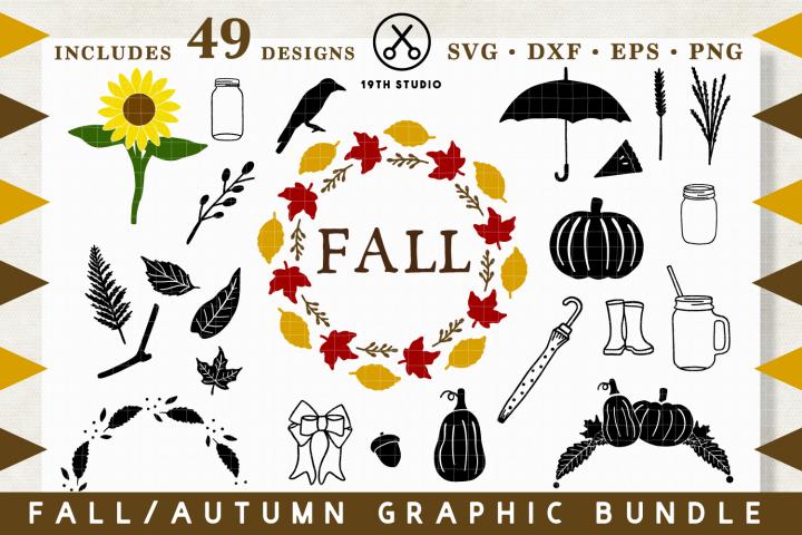 Fall Graphics SVG Bundle - SVG DXF EPS PNG -VB19