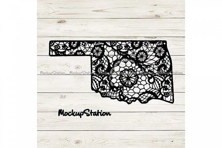 Oklahoma Mandala SVG, Oklahoma Lace Decor Cut File PNG