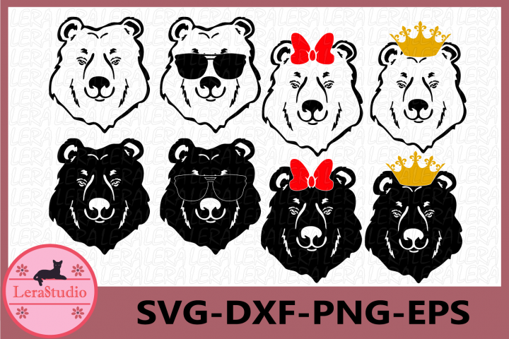 Bear Svg, Bear Face svg, Bear with Sunglasses svg, Bear