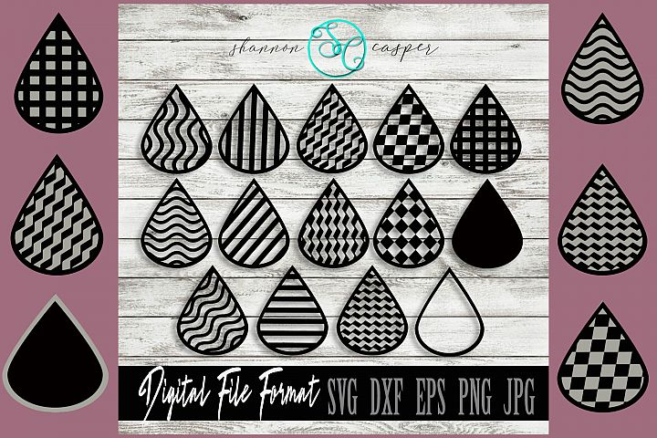 14 SVG Layer Earring Templates