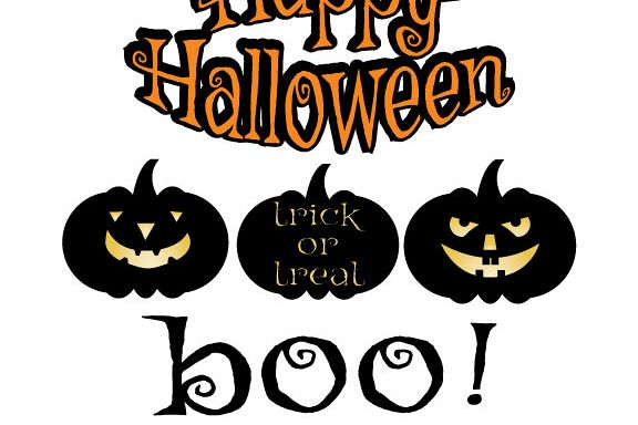 Happy Halloween,Pumpkin Cut Files, Fall SVG, Cricut Files, Silhouette Files Svg,Dxf,Png,Jpg,Eps vector file