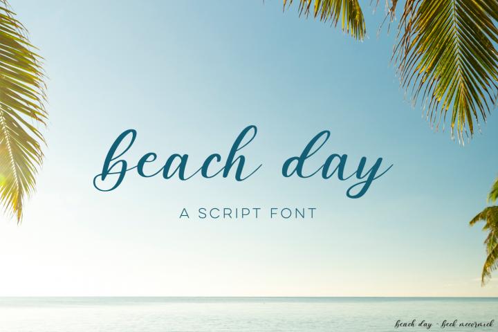 Beach DayScript Font