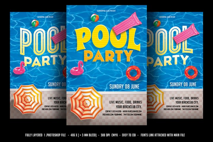 Pool Party Flyer / Beach Party Flyer