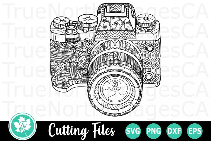Zentangle Camera - An Zentangle SVG Cut File