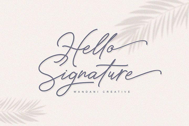 Hello Signature Font