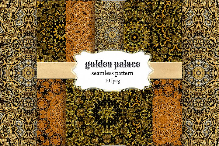 Gold Patterns , Palace decor ,Seamless Patterns ,digital
