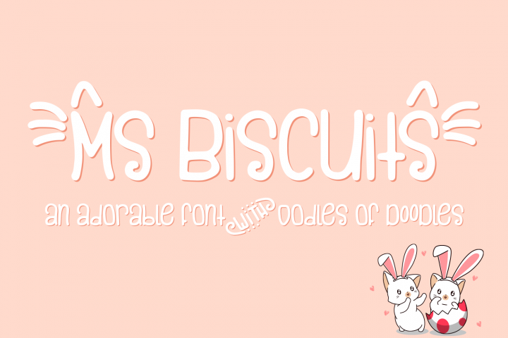Ms. Biscuits - an adorable handwritten font with doodles