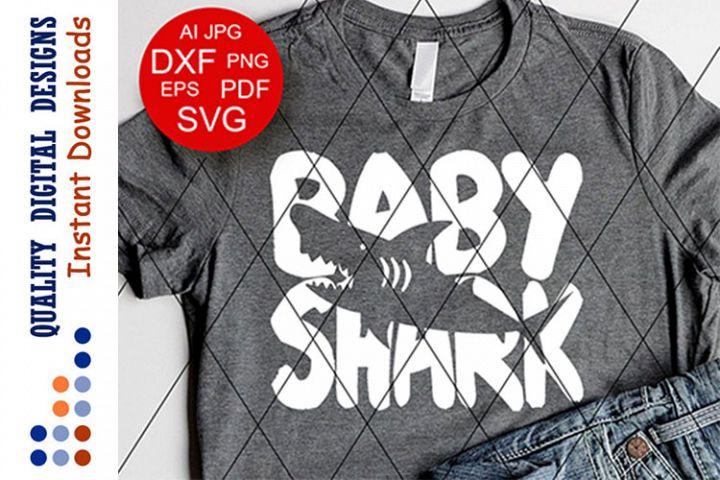 Baby Shark shirt Decor Kids Shark party svg files