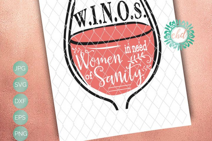 Woman in need of Sanity Includes SVG, DXF, EPS and PNG