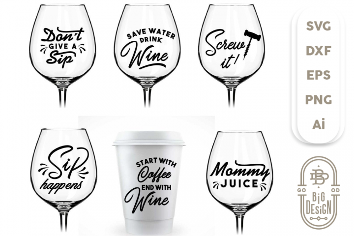 Wine SVG - A Wine Bundle Svg for Wine Lovers