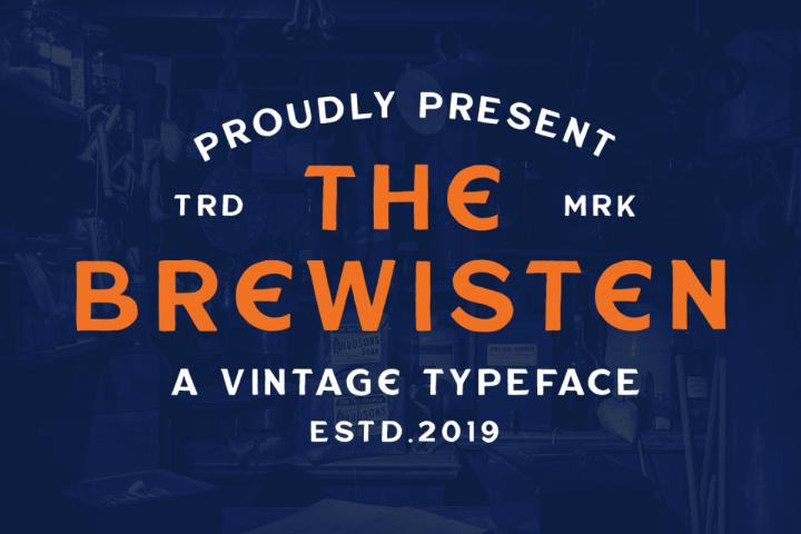 Brewisten Vintage Font & Extras Logo Badges