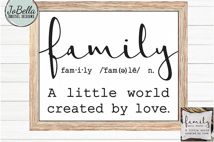 Family SVG and Printable - Farmhouse Definition